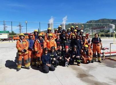 El Consorcio Provincial de Bomberos de Valencia recibe formación y realiza prácticas en la central nuclear de Cofrentes