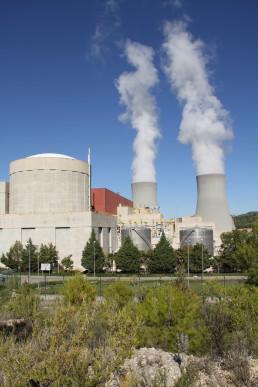 Disposición de los edificios en la Central Nuclear Cofrentes