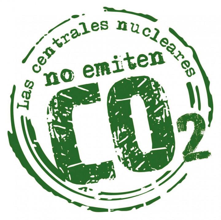 Logo de las Centrales Nucleares no emiten CO2