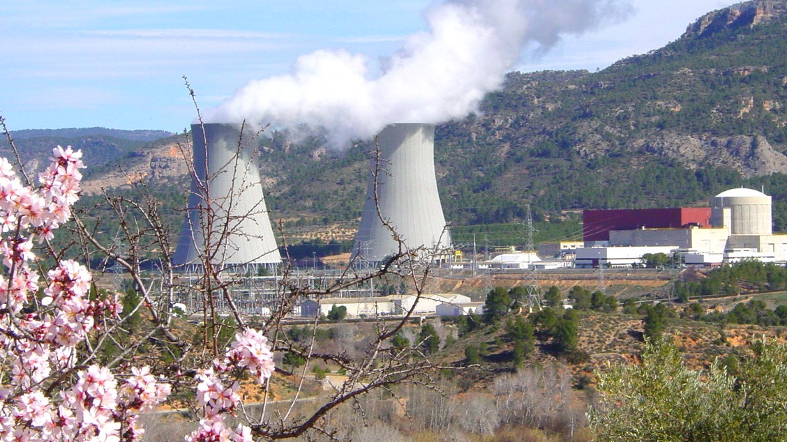 Galería multimedia: foto de la central con almendros florecidos