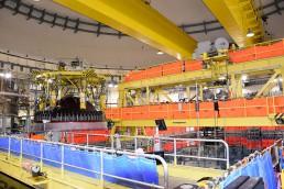 Planta de recarga en la central nuclear Cofrentes